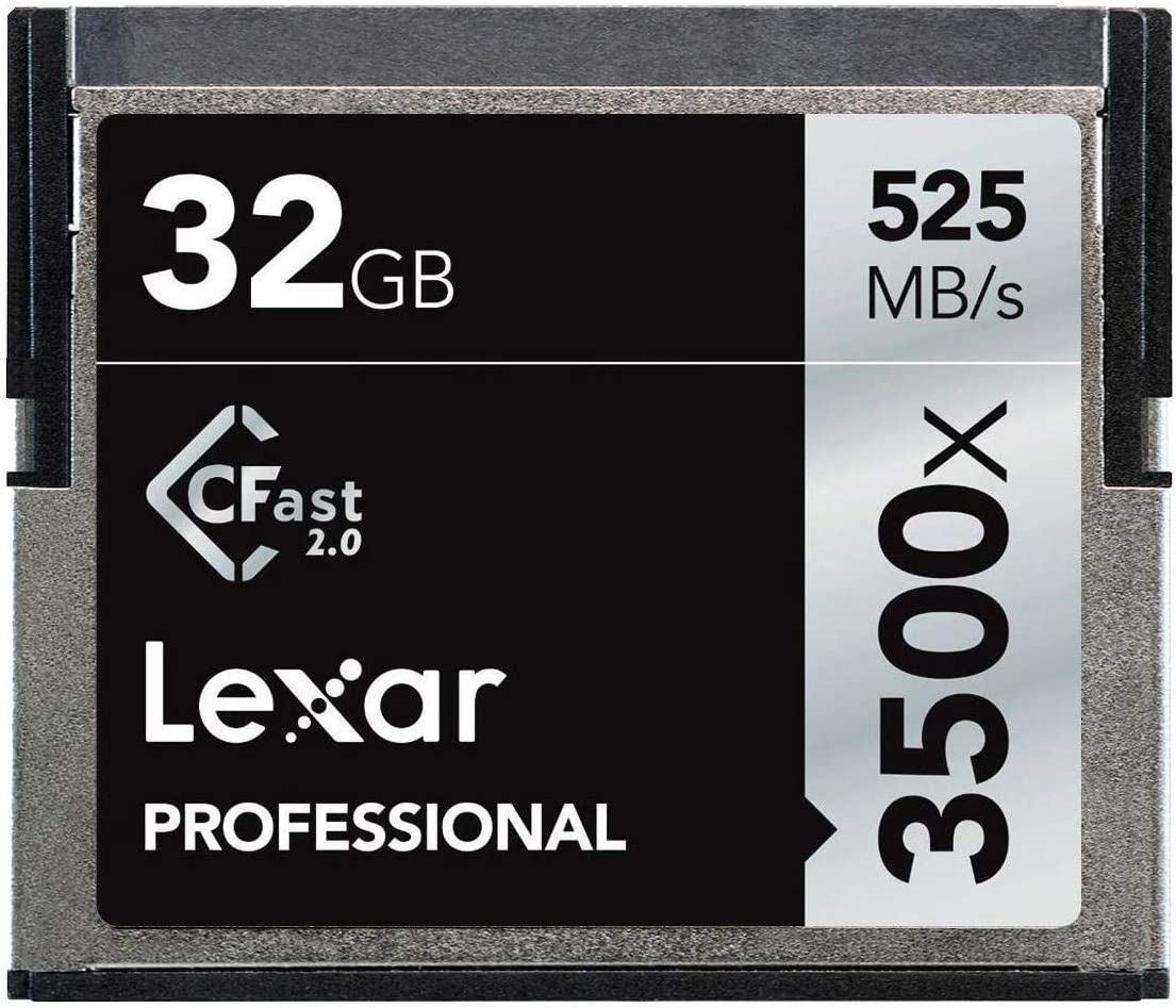 Lexar 32GB Professional 3500x CFast 2.0 Memory Card for 4K Video Cameras, Up to 525MB/s Read, Up to 265MB/s Write Speed