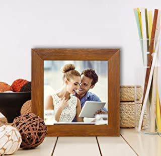 Art Street Synthetic Brown Wall/Table Photo Frame (Picture Size 5 inches X 5 inches, with Stand)