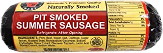 Wisconsin's Best - Pit Smoked Summer Sausage - ORIGINAL - All Natural Hickory Flavor - 12 oz. - Try with crackers!!