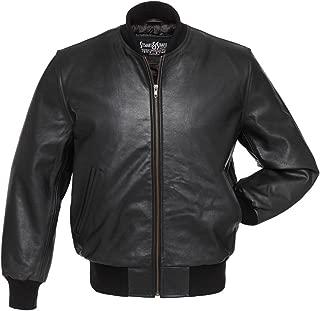 Top Qulaity Black Premium Leather Varsity Jackets Letterman Jackets to 6XL