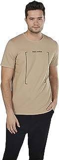 Iconic Men's 2300372 U 20 STATEME Cotton T-Shirt, Beige