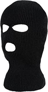 SATINIOR 3-Hole Knitted Full Face Cover Ski Mask, Adult Winter Balaclava Warm Knit Full Face Mask for Outdoor Sports