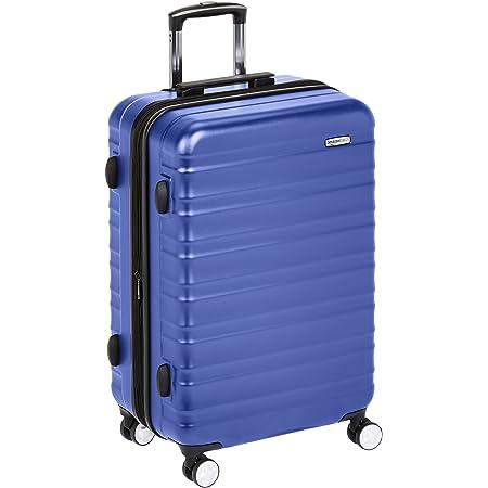 Amazon Basics Valise rigide à roulettes pivotantes de qualité supérieure avec serrure TSA intégrée - 68 cm, Bleu