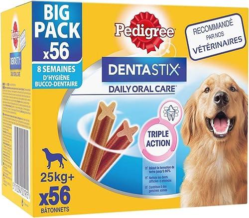 Pedigree Dentastix Friandises pour grand Chien, 8 x 7 sticks