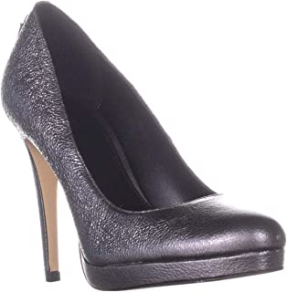 Michael Kors Womens Antoinette Leather Closed Toe Classic, Anthracite, Size 7.0