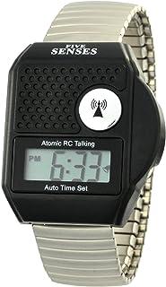 Atomic Talking Watch - Five Senses Top Button LCD Atomic Talking Watch (1095)