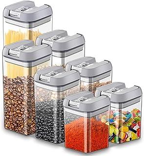 Chenci 7pcs Boîtes Conservation Alimentaire Plastique Boîtes Hermétique Rangement avec Couvercle,sans BPA/Étanche,Conserve...