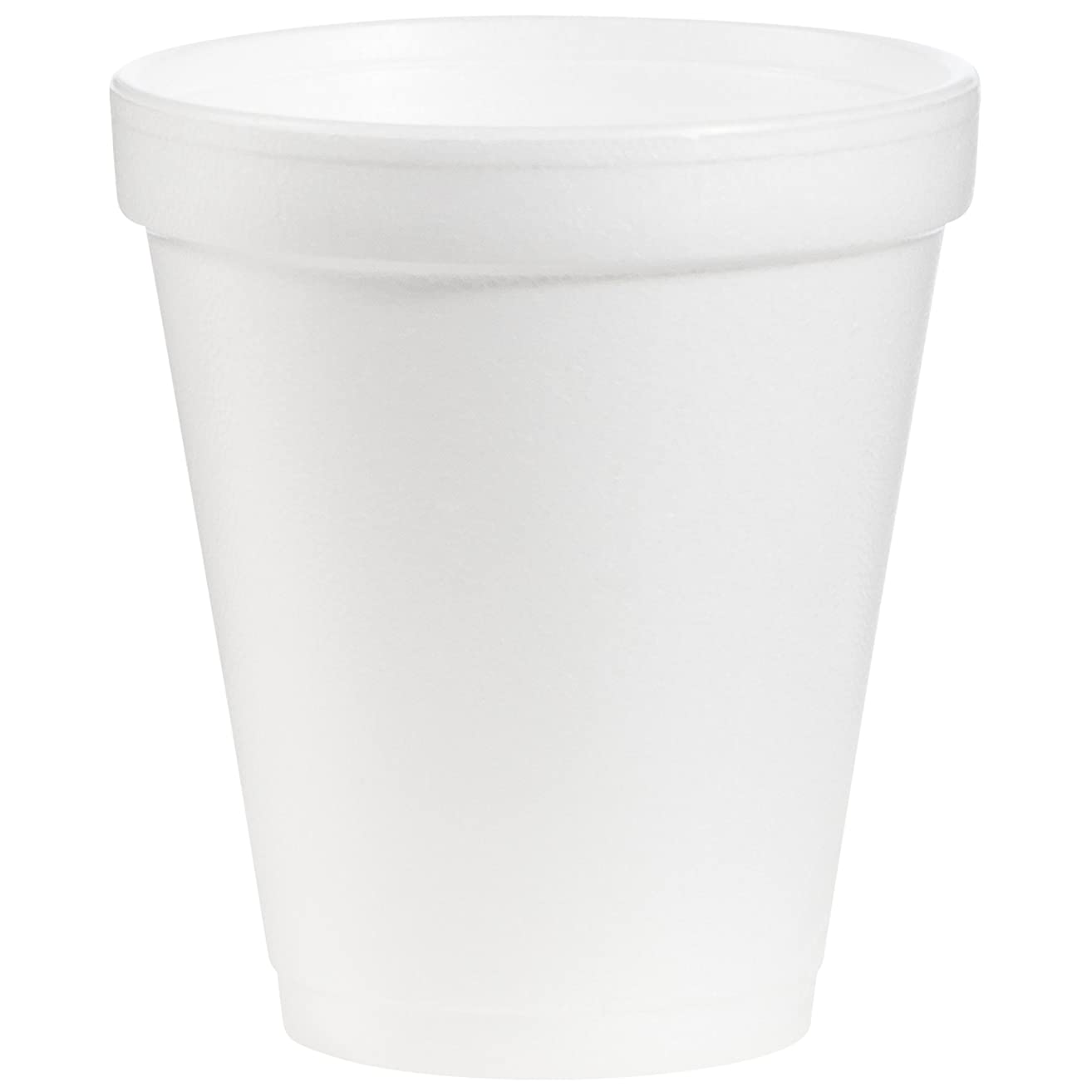 Dart 8J8 8 oz Foam Cup, 8 Series Lids (Case of 1000)