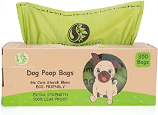 Greener Walker Poo Bags for Dog Waste, 350 Poop Bags on a Large Single Roll,Extra Thick Strong 100% Leak Proof Biodegradab...