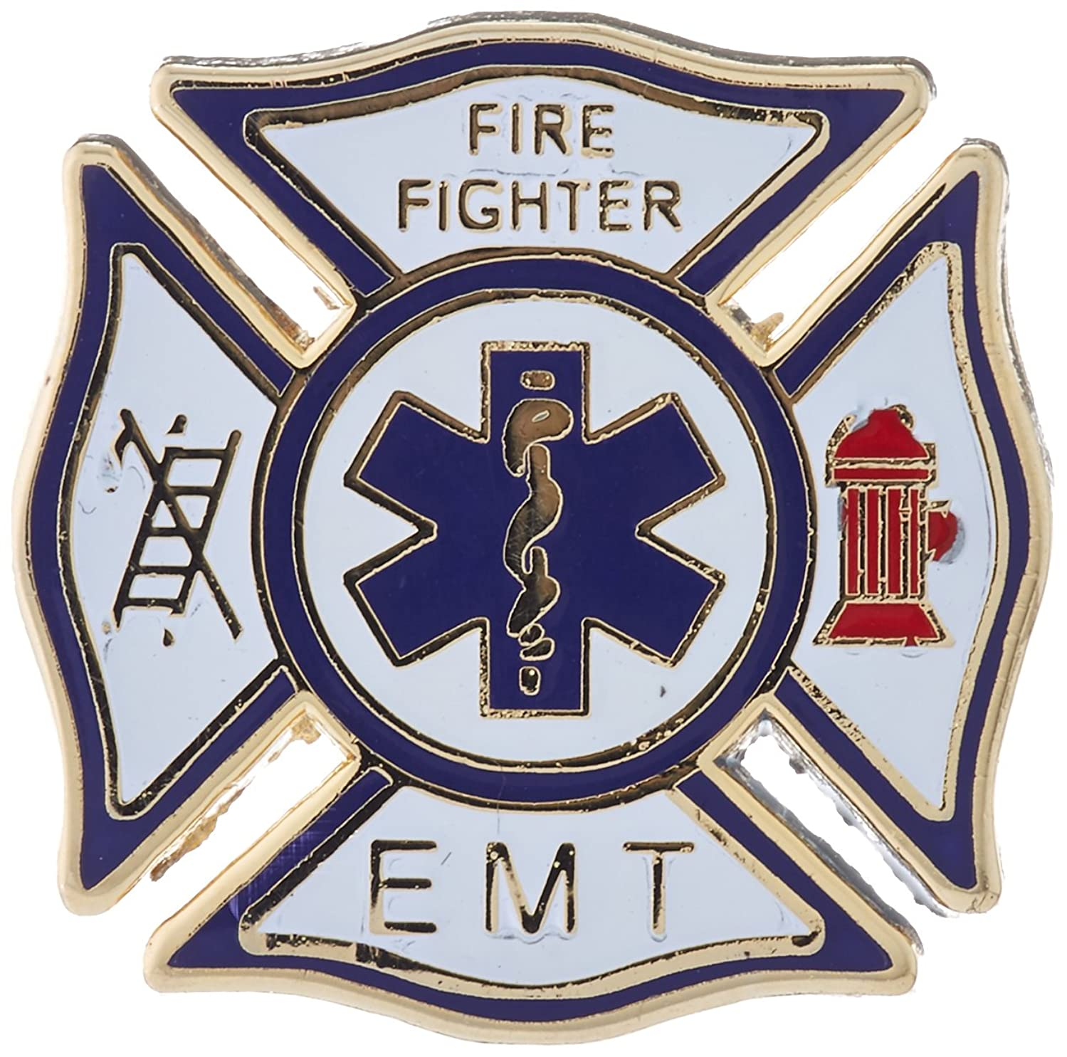 EagleEmblems P06257 Pin-Fire and EMT (1'')