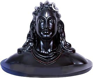 WolkomHome Bhagwan Shiv Shiva Statue Idol Adiyogi for Car Dashboard Temple, Home Décor Pooja Room, (Size 3x2.5 Inch)