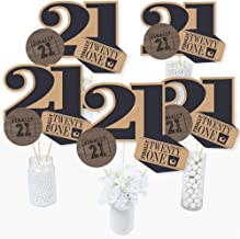 Finally 21 - 21st Birthday Party Centerpiece Sticks - Table Toppers - Set of 15