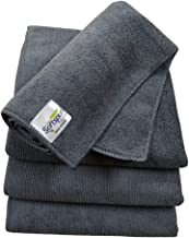 SOFTSPUN Microfiber Cloth - 4 pcs - 40x40 cms - 340 GSM Grey- Thick Lint & Streak-Free Multipurpose Cloths - Automotive Mi...