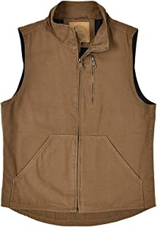 BOTVELA Men's Sleeveless Jacket Washed Cotton Casual Outdoor Work Travel Vest with Pockets