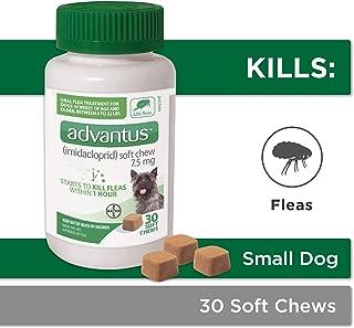 Bayer Animal Health Advantus (imidacloprid) Oral Dog Flea Treatment, Soft Flea Chews for Dogs 4-22 lbs, 30 doses