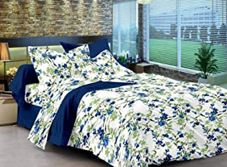 Ahmedabad Cotton Single Size, Cotton,Floral Pattern,Multicolor - Bedding Sets