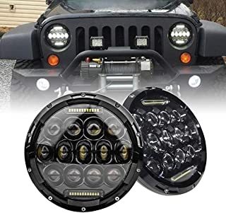 AutoMotor 7 Inch Round 5D 2018 Newest Design 130w Philip LED Projector Headlight with DRL for Jeep Wrangler JK TJ LJ CJ
