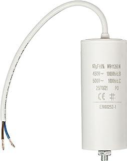 Eurosell 60 uf / 450 V + Premium Kondensator Betriebskondensator Motorkondensator Anlaufkondensator Arbeitskondensator Steckeranschluss mit fest verbautem Kabel Anschluss