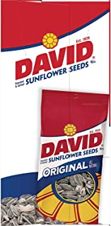 DAVID Roasted and Salted Original Sunflower Seeds, Keto Friendly, 1.625 oz, 12 Pack