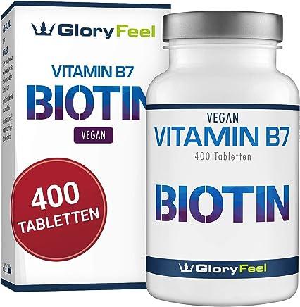 Biotin Hochdosiert 10.000 mcg - Der VERGLEICHSSIEGER 2019* - 400 vegane Tabletten für mehr als 1 Jahr Haut Haare & Nägel-Kur - Maximale Dosierung - Laborgeprüft und Hergestellt in Deutschland