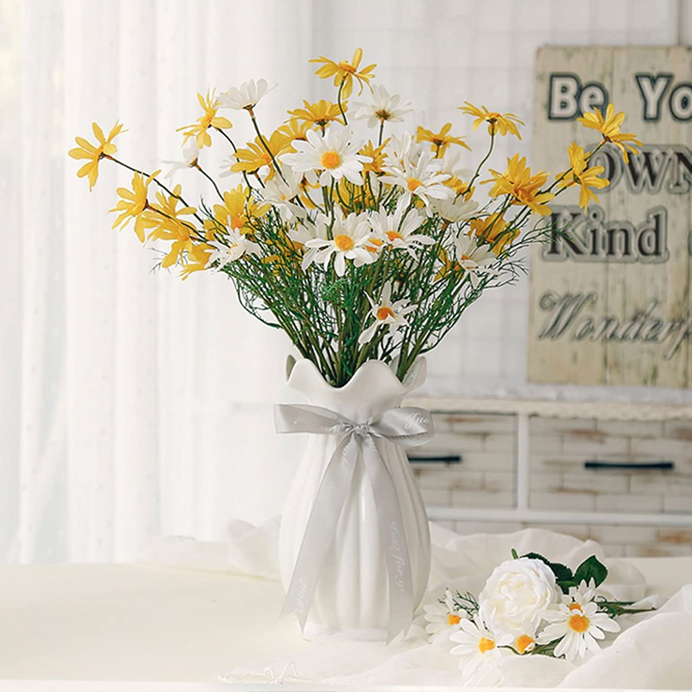 南極蓮スパークMeters ヨーロッパスタイルのクリエイティブセラミック花瓶透明色のリビングルームは、花の花瓶の装飾品の工芸品を乾燥