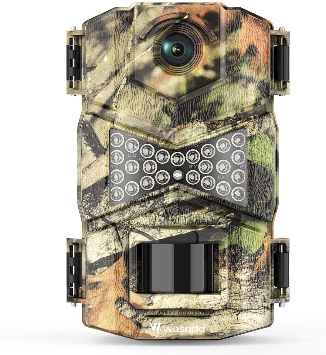 WOSODA Trail Camera Waterproof Game Year-end annual Import account 16MP 1080P Hunting