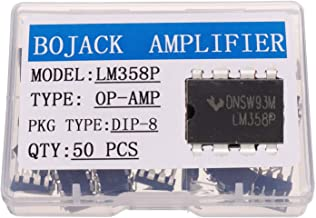 BOJACK LM358P Operational Amplifier IC LM358N LM358 DIP-8 Dual Operational Amplifier(Pack of 50 pcs)