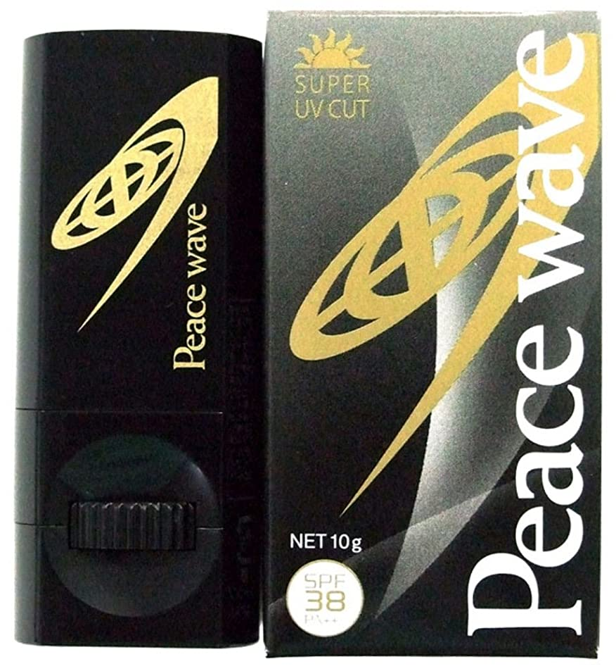味方傾斜羨望PEACE WAVE 日焼け止め UVフェイススティック SPF38 PA++ ブラック 10g 580274
