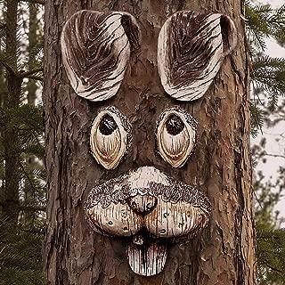 Jacriah Funny Rabbit Tree Hugger, Yard Art Decorations Tree Faces Outdoor Decor Garden Art Decorations