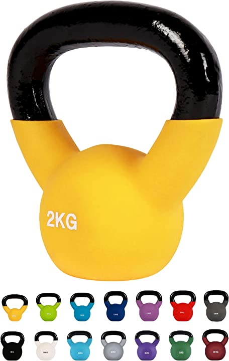 Kettlebell professionale 2-30 kg | ghisa revestimento in neoprene | incl. workout pdf | diversi colori msports B01NCSIBRC