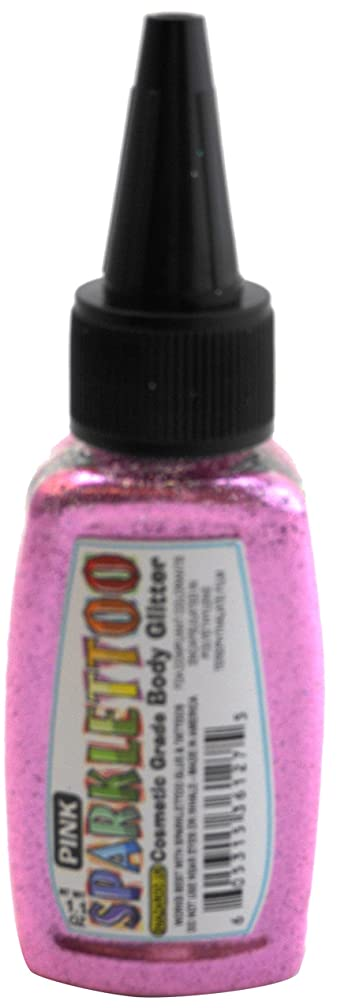 Ruby Red Paint, Inc. GL-7PINK Glitter Face Paint, 7 oz, Pink, 2 Piece