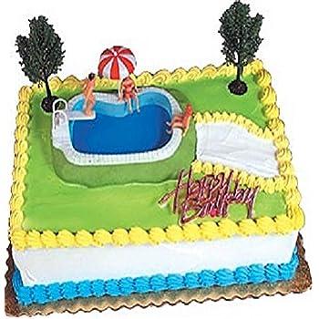 Remarkable Oasis Supply Swimming Pool Cake Decorating Kit 1 Set Amazon Co Personalised Birthday Cards Vishlily Jamesorg
