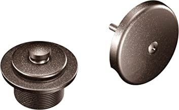 Moen T90331ORB Push-N-Lock Tub and Shower Drain Kit with 1-1/2 Inch Threads, Oil-Rubbed Bronze