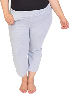 Stretch is Comfort Women's Plus Size Capri Foldover Yoga Pants