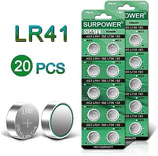 SURPOWER LR41 1.5V Button Cell Battery AG3 392 Batteries-20 Pack