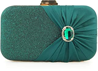 ETH The New Diamond-studded Chain Bag Clutch Ms. Green Party Diamond Evening Bag Banquet Bag 20CM * 5.5CM * 11.5CM Hand Bag