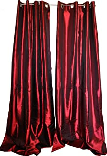 Easy Care Fabrics Grommet Metallic Taffeta Curtain/Panel, 55
