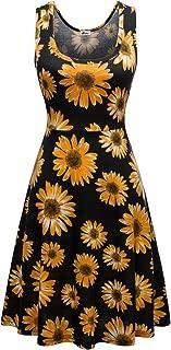 Sleeveless Summer Flared Casual Dresses for Women