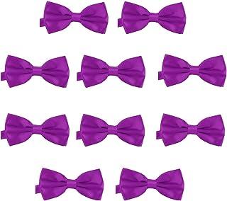 35c72551bdffd DonDon Lot de 10 Noeud papillon pour homme 12 x 6 cm avec crochet déjà lié