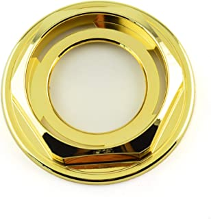 Rhinotuning 102mm(4.02in)/72mm(2.82in) Gold ABS Car Wheel Center Hub Caps Hex Nut Set of 1 for #09.23.131 BBS RZ RG 15