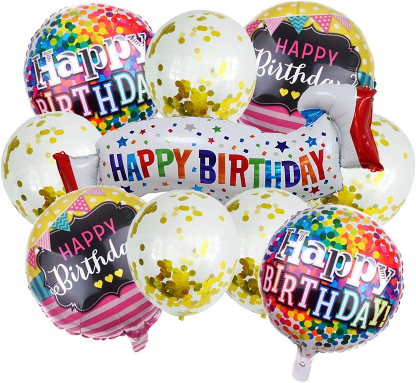ZEWYXGS Balloons 10pcs lot El Paso Mall Happy Banners Fort Worth Mall Birthday Foil