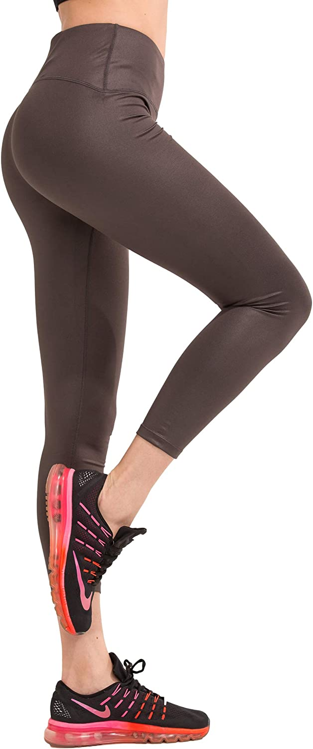SPECIAL MAGIC Women's Stretchy Mid Waist Workout Leggings with Hidden Pocket