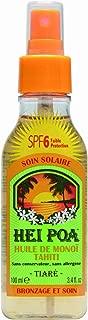 Hei Poa Sun Tanning Oil Tahiti Monoi SPF 6 Tiaré Scent Spray 100 Ml
