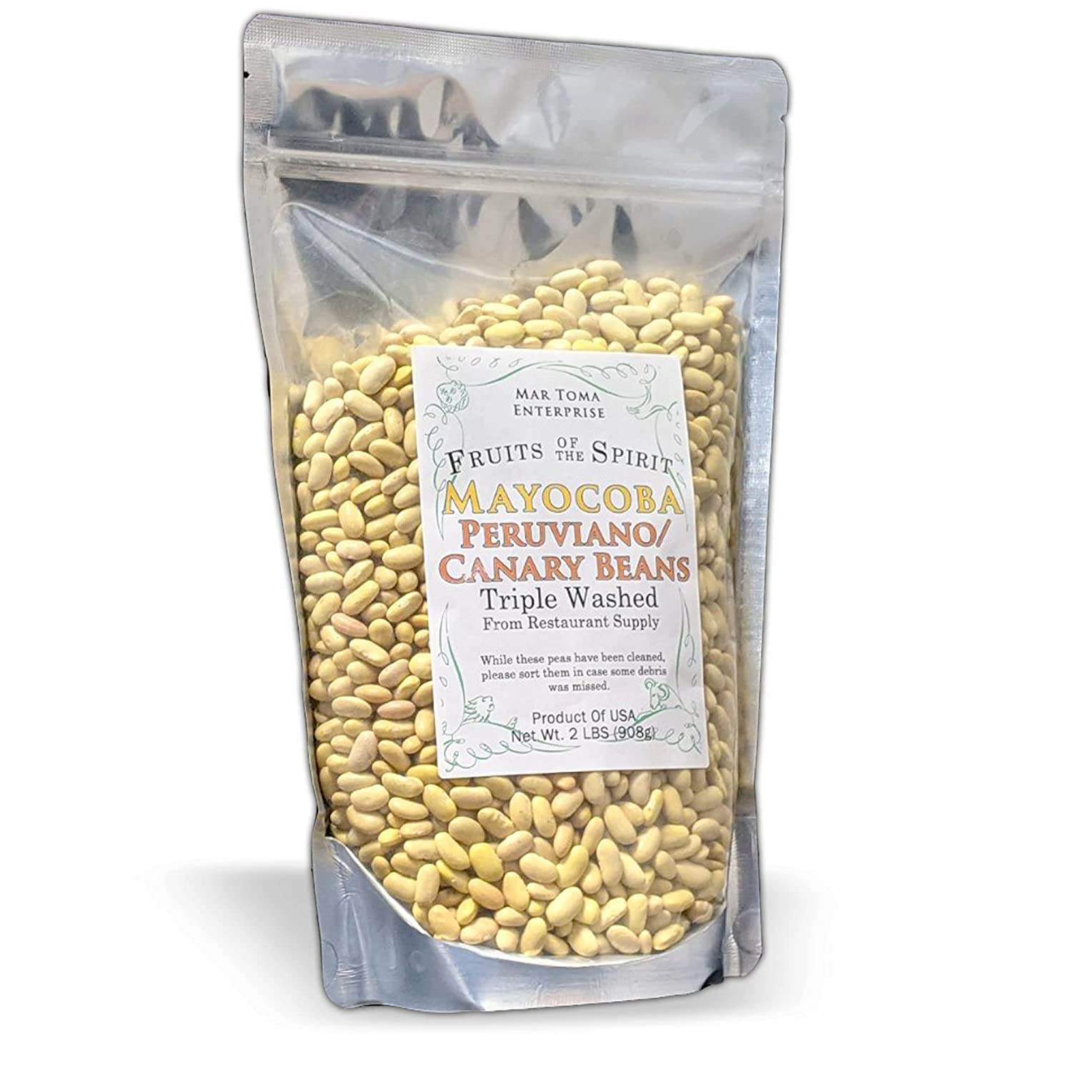 FOTS Dry Canary Peruviano Mayoboca Beans- Bag Pound x Max 86% OFF Clea 3 Super-cheap 2