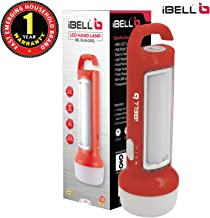 iBELL 8428SL Rechargeable Flashlight/Torch Cum Emergency Light with SMD LED Tube, 20cm Height (Red)