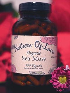 Nature Of Love: Sea Moss/Irish Moss Capsules - Natural, Vegan, Organic, Non-GMO