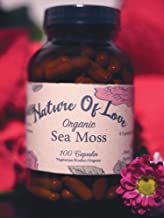 Nature Of Love: Sea Moss/Irish Moss Capsules (1100mg Each) - 100% Natural, Vegan, Organic, Non-GMO - Dr Sebi Inspired