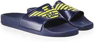 Armani Men's Emporio Eagle Crest Slide Sandles UK 9.5 Blue