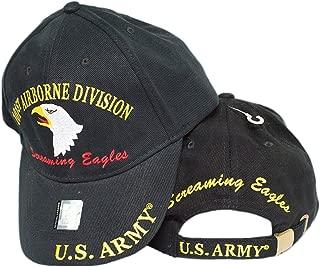 MWS U.S. Army 101st Airborne Division Screaming Eagles Black Cap HAT 3D 4-04-D