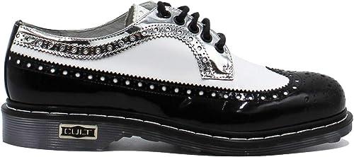 Cult , Chaussures de Ville à Lacets pour Femme MultiCouleure Bianco, noir, argent